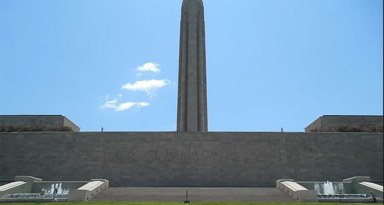 Liberty Memorial Fountains, North