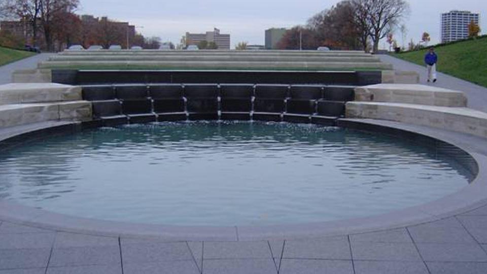 Liberty Memorial Fountain, South