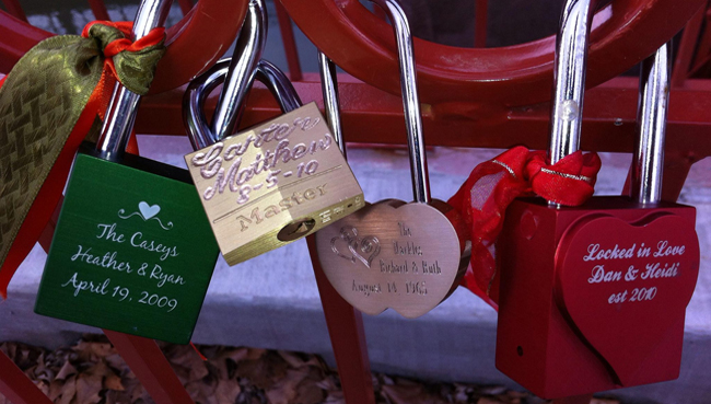 Old Red Bridge Love Locks Attractions Kcparks Org