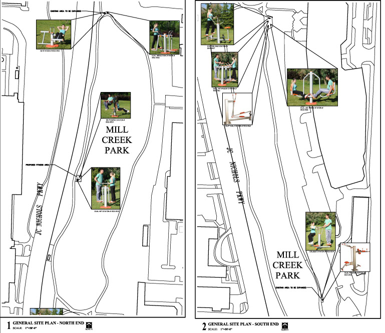 Mill Creek Fitness Stations Map