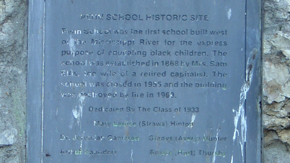 Penn School Historic Marker
