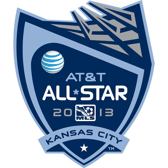 MLS All-Stars and Local Celebrities Attempt to Score a Goal across Brush Creek at Theis Park