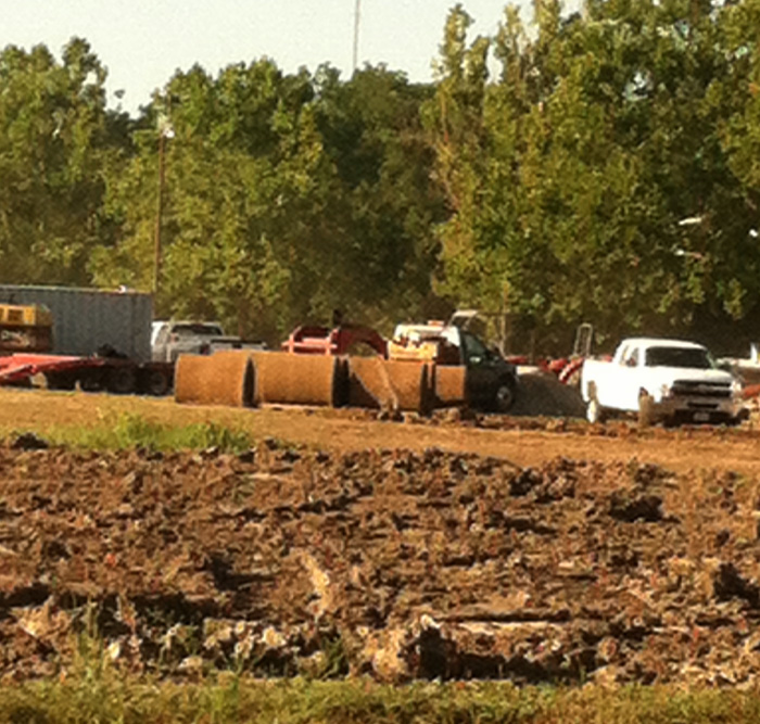 """Sod Rolling"" for Swope Soccer Village Project Begins"