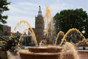 orange fountain