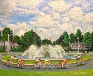 bikers fountain