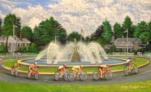 Artists Paint and Cyclist Ride to Support KC Fountains