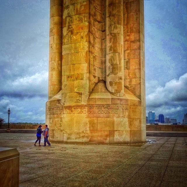 Lovers at the Liberty, making memories at the Memorial.