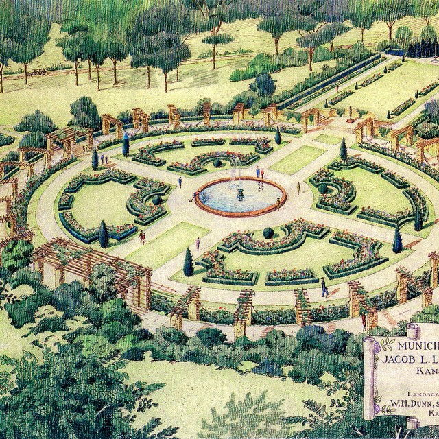 {Throwback Thursday} Loose Park Municipal Rose Garden original design by Hare & Hare circa 1930s.  A 14-year, $2 million restoration to reflect this design was recently completed. Celebrate May 31 on Rose Day. #TBT #KCParks #RoseDay