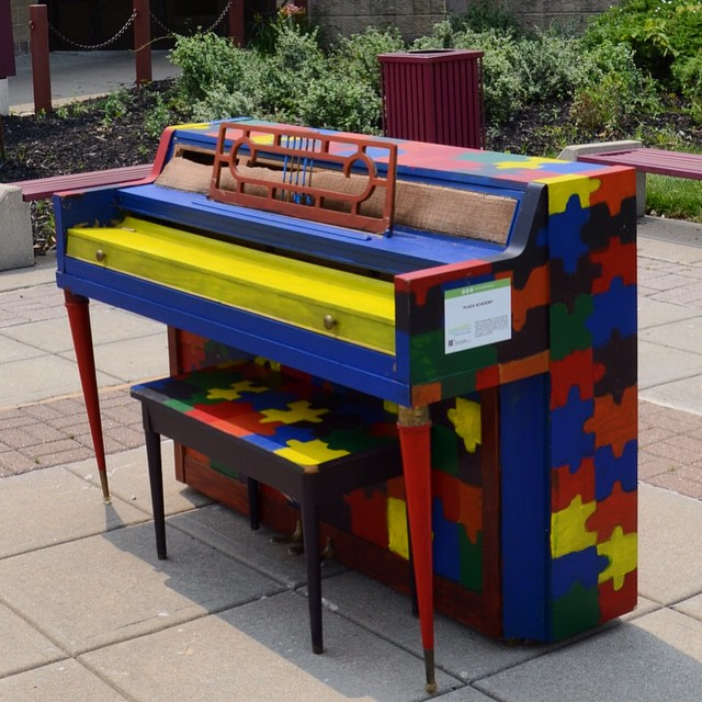 Another Piano! #KCParks is thrilled to be part of Pianos On Parade! Check out this piano, decorated by Plaza Academy, located at Brush Creek Community Center. Stop by and play!#pianosonparadekc #PianosOnParade