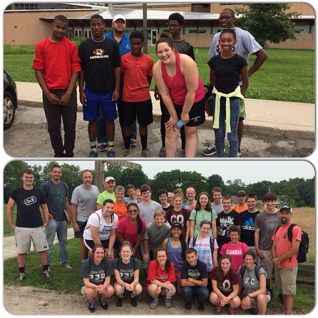 Thank you #KCParks volunteers!  Boys Hope Girls Hope Group Volunteer Project-Fox Hollow Trail Clean up in Swope Park and Mennonite Church USA service project at Shoal Creek Living History Museum in Hodge Park. #volunteers #JulyPRM30