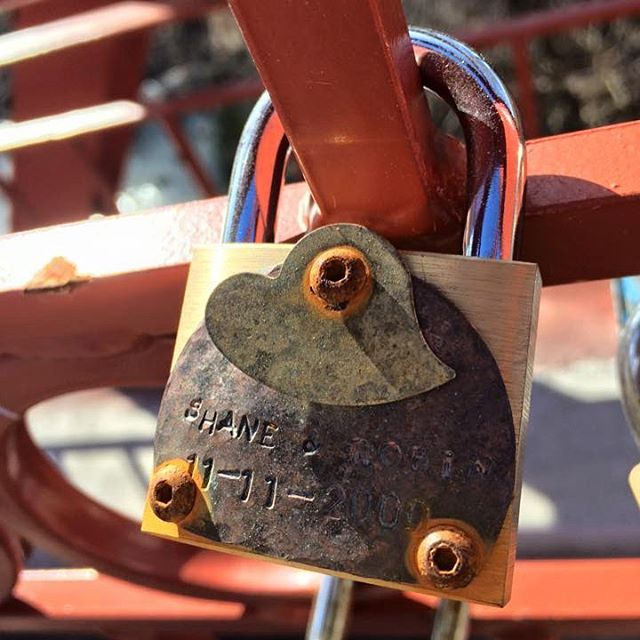 {Countdown to Valentine's Day:14 Days of Love Locks} DAY 10: #KCParks is featuring one unique lock from the Old Red Bridge in Minor Park each day through Valentine's Day. #redbridgelovelocks #lovelocks #love #forever #youandme #valentinesday2016 #lovekc #valentinesday @lockitz01 @makelovelocks #igkc #igkcmo #lovekc #unconditionallove ️