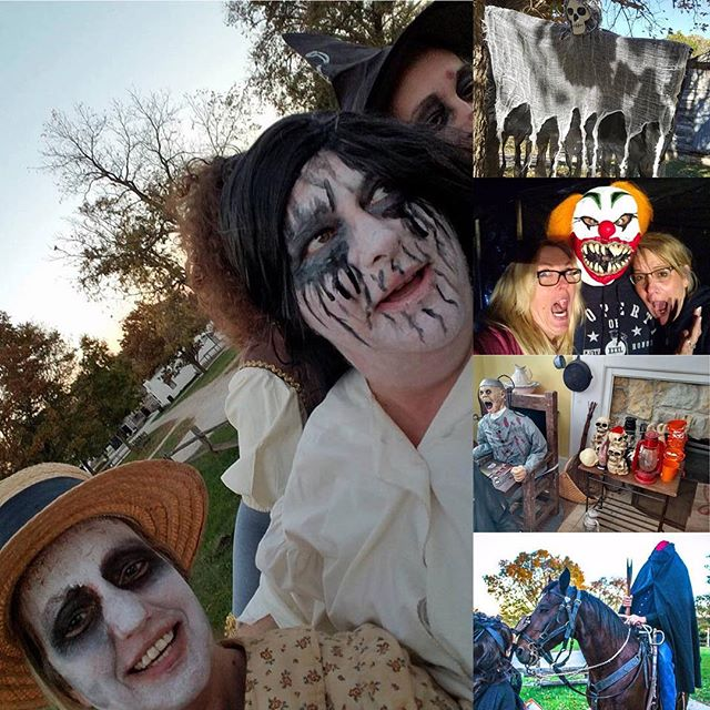 Pictures from Saturday night's #FrightNight event at #KCParks Shoal Creek Living History Museum in Hodge Park.