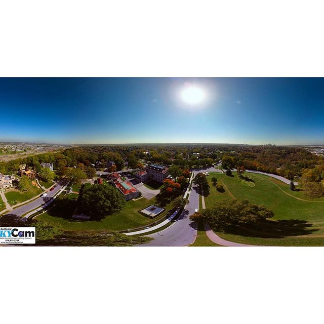 This is awesome! Check out the panoramic view of #KCParks Kessler Park/Cliff Drive/KC Museum and more in Historic Northeast KCMO. Thank you for sharing Sky-Cam Drone Services.