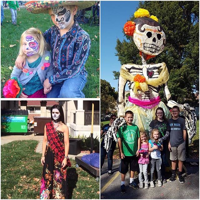 Great Day of the Dead celebration at #KCParks KCMuseum #dayofthedead #diadelosmuertos