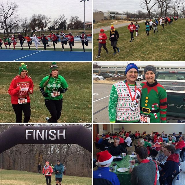 A great time was had by all!! Kris Kringle 5K at #KCParks Southeast Community Center in Swope Park. #uglychristmassweater