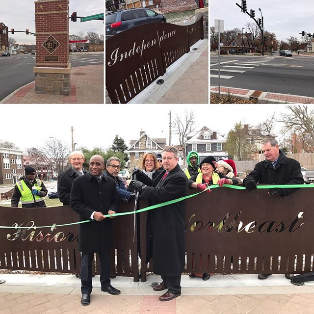 ‪#KCParks Benton/Independence Boulevard improvements ribbon cutting. #HistoricNortheast