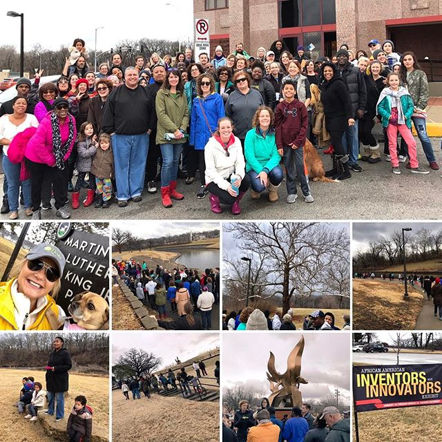 """In the End, we will remember not the words of our enemies, but the silence of our friends."" Thanks to all who came out and joined Us! #MLKDAY Nature Walk #KCParks #MLKday2017 #PuggleInThePark"