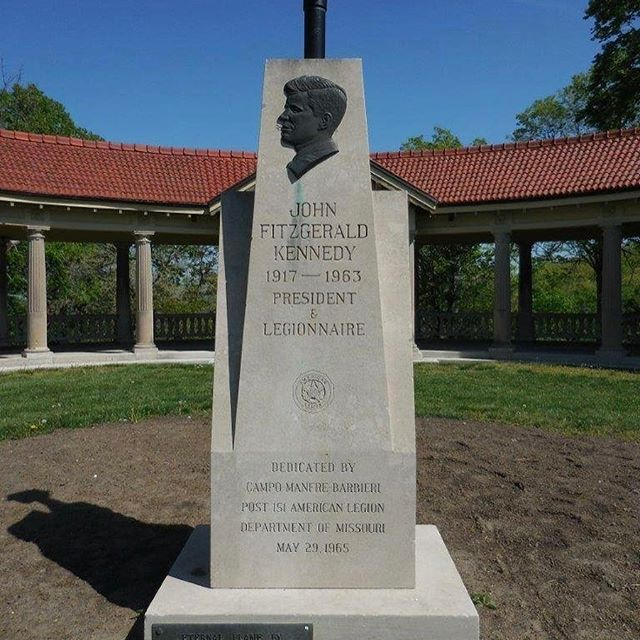 The John F. Kennedy Memorial is located in The Concourse in #KCParks Kessler Park. #PresidentsDay #JFK