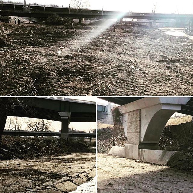 Spring cleaning in the middle of February! Due to the beautiful weather, #KCParks crews have been able to clean out 30 tons of brush and trash from Brush Creek (71 Highway>>east). #SpringCleaning