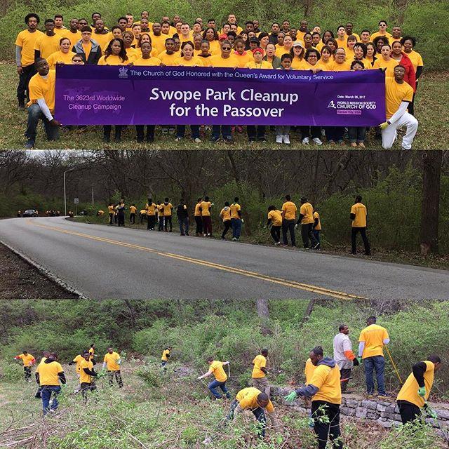 Swope Park cleanup! We ️ #KCParks volunteers!