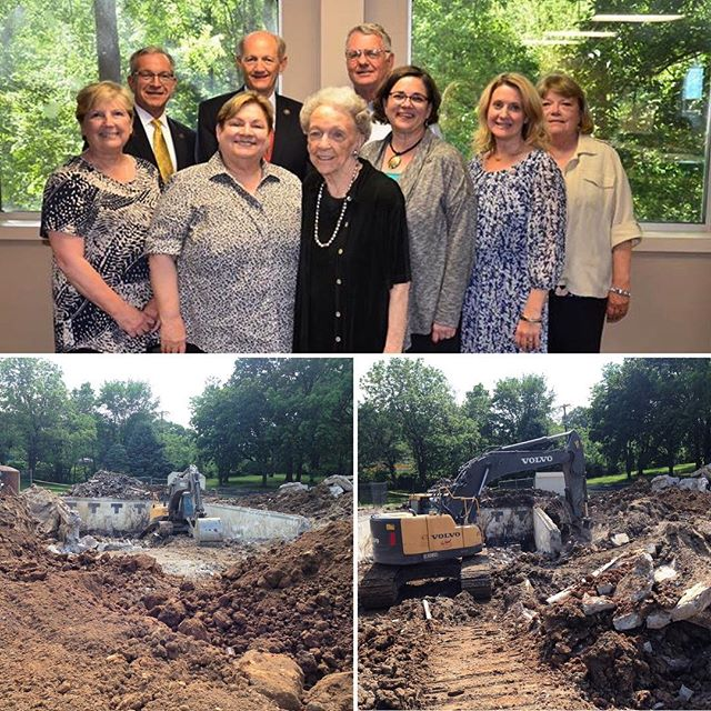 Demolition of the former Vivion Road YMCA has begun! Thank you KCMO District 1, 2 and 4 Councilmembers and City leaders for your support of the new Vivion Aquatics Center, scheduled to open Summer 2018. L-R (Back Row): CM Dan Fowler, KC Parks Director Mark McHenry, KC Parks Commissioner David Mecklenburg. L-R (Front Row) CW Teresa Loar, CW Katheryn Shields, Anita B. Gorman, CW Jolie Justus, CW Heather Hall and NNI CEO Deb Hermann. Not pictured: Mayor ProTem Scott Wagner.