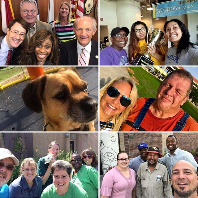 #KCParks had a blast with #CityHallSelfie Day! #KCMO #CityAtWork #ELGL50 #PuggleInThePark @ethnickc Thanks to all who participated! KC Parks Board of Commissioners, Tony Aguirre Community Center, @puggleinthepark, @ethnickc, Lakeside Nature Center, Line Creek Community Center Ice Arena