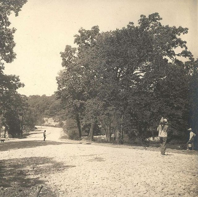 {Throwback Thursday} Road Crew on Roanoke Road in Roanoke Park,  west from near 36th & Belleview, circa 1906 #TBT #KCParks125 #throwbackthursday