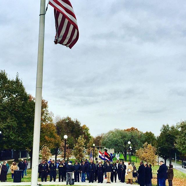 #VeteransDay at #KCParks Black Veterans Memorial at 12th and The Paseo
