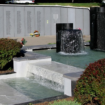 Our #WhatsThatWednesday image in located on the grounds of the  Vietnam Veterans' Memorial Fountain at 42nd & Broadway. #VeteransDay