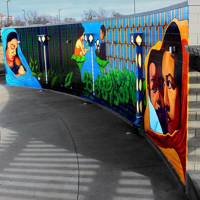 Photo of the mural at kcparks 9th and van brunt athletics for 9 11 mural van