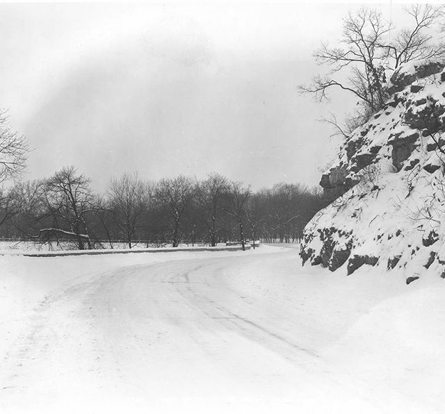 {ThrowbackThursday} A Wintry scene in #KCParks Swope Park. Near the lake, circa early 1900s. #TBT #KCParks125 #FromTheArchives