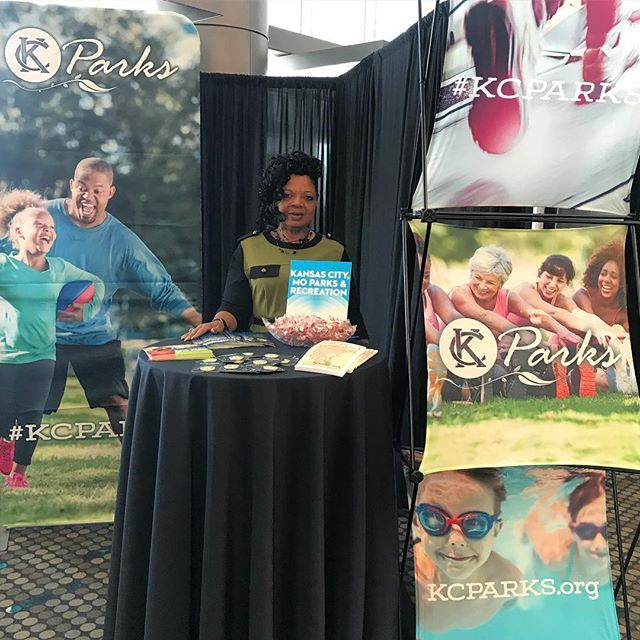 Stop by the #KCParks booth today at the DTC. luncheon expo! 