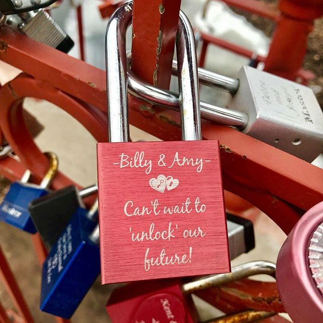 {Countdown to Valentine's Day:14 Days of Love Locks} DAY 3:#KCParks is featuring unique locks from the Old Red Bridge in Minor Park each day through Valentine's Day. #RedBridgeLoveLocks #LoveLocks #ValentinesDay2018 ️