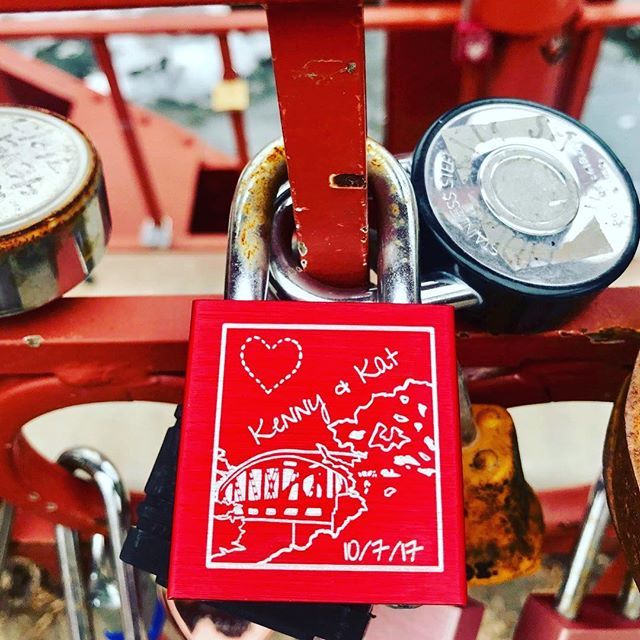 {Countdown to Valentine's Day:14 Days of Love Locks} DAY 11: #KCParks is featuring unique locks from the Old Red Bridge in Minor Park each day through Valentine's Day. #RedBridgeLoveLocks #LoveLocks #ValentinesDay2018 #LoveKC #LoveLove