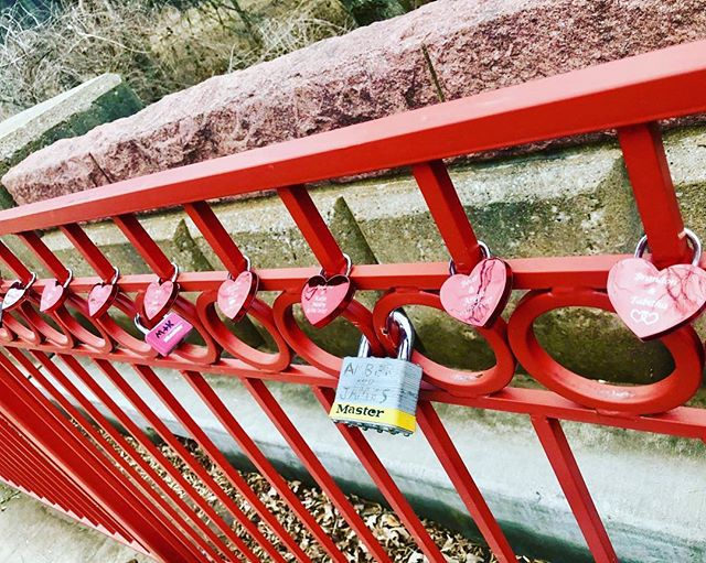 {Countdown to #ValentinesDay:14 Days of Love Locks} DAY 14: Happy Valentine's Day! #KCParks is featuring unique locks from the Old Red Bridge in Minor Park each day through Valentine's Day. #RedBridgeLoveLocks #LoveLocks #ValentinesDay2018 #LoveKC #RowOfHearts #EightHearts #LoveKC