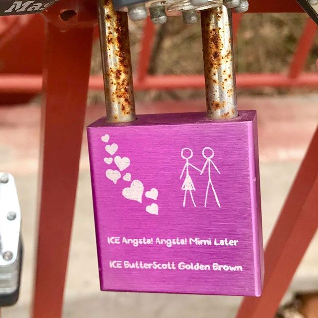 {Countdown to Valentine's Day:14 Days of Love Locks} DAY 2: #KCParks is featuring unique locks from the Old Red Bridge in Minor Park each day through Valentine's Day. #RedBridgeLoveLocks #LoveLocks #ValentinesDay2018 #LoveKC ️