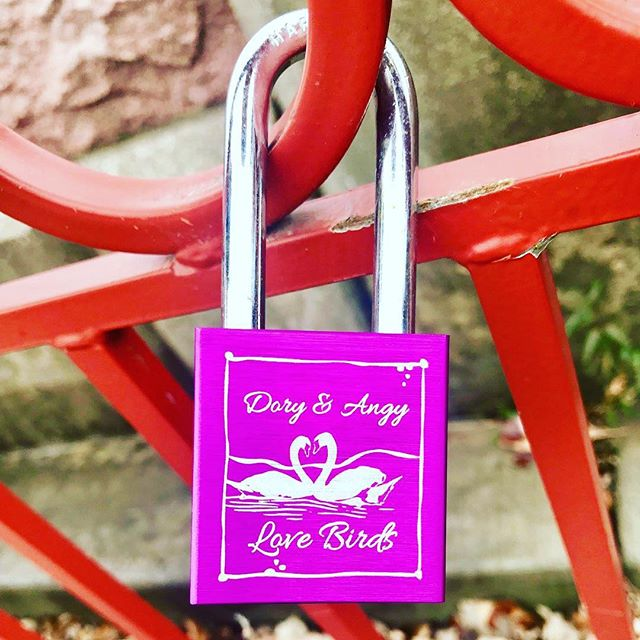 {Countdown to Valentine's Day:14 Days of Love Locks} DAY 12: #KCParks is featuring unique locks from the Old Red Bridge in Minor Park each day through Valentine's Day. #RedBridgeLoveLocks #LoveLocks #ValentinesDay2018 #LoveKC #LoveBirds #ValentinesDay