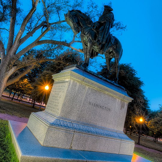 Happy Presidents Day! George Washington Memorial in #KCParks Washington Square Park. Photo by Eric Bowers. #PresidentsDay #Washington