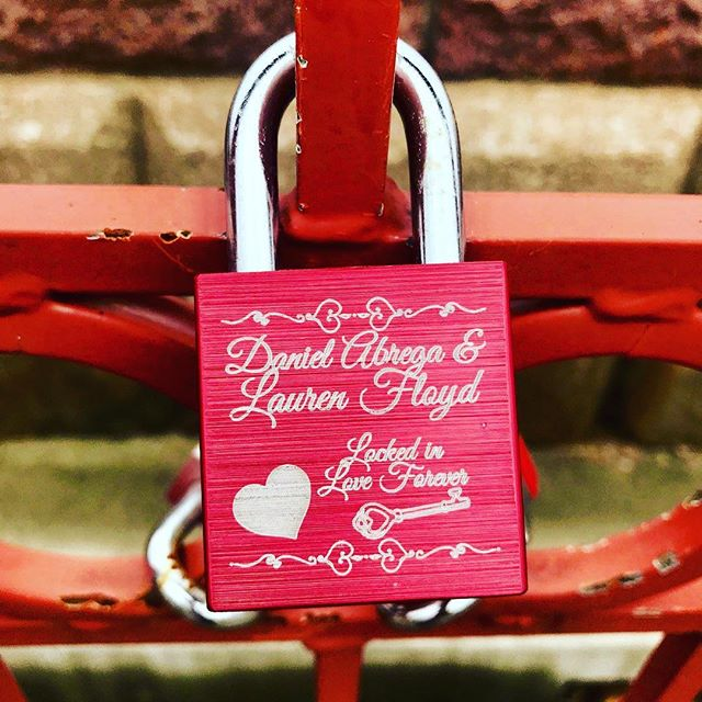 {Countdown to Valentine's Day:14 Days of Love Locks} DAY 6: #KCParks is featuring unique locks from the Old Red Bridge in Minor Park each day through Valentine's Day. #RedBridgeLoveLocks #LoveLocks #ValentinesDay2018 #LoveLove #SouthKC #FiveYearsOfLoveLocks #RenewTheBlue #ValentinesDay #ValentinesDay2018 #LoveKC #LockedInLove #Forever