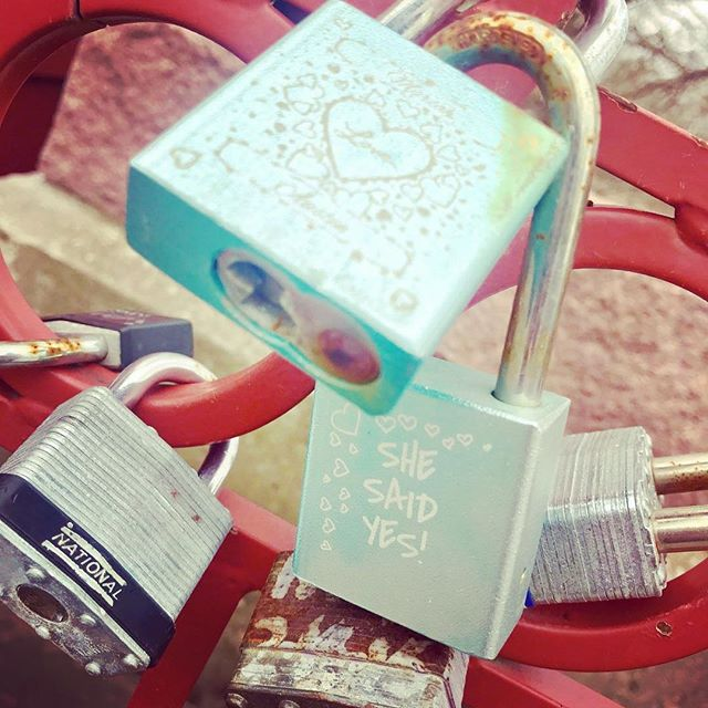 {Countdown to Valentine's Day:14 Days of Love Locks} DAY 10: #KCParks is featuring unique locks from the Old Red Bridge in Minor Park each day through Valentine's Day. #RedBridgeLoveLocks #LoveLocks #ValentinesDay2018 #LoveKC