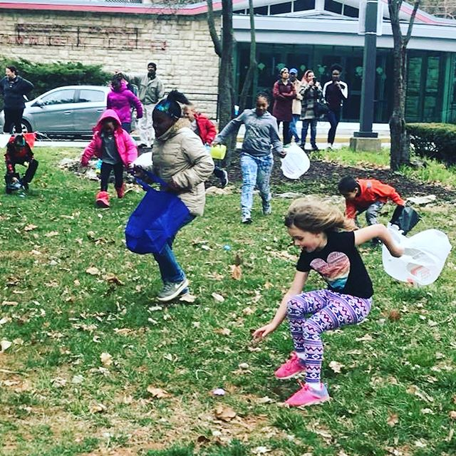 Fun at the Spring Egg Hunt today at Westport Roanoke Community Center. #KCParks #WhereKCPlays