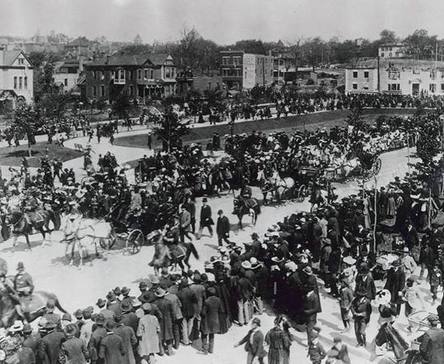 "#ThrowbackThursday Looking forward to Kansas City #StPatricksDay Parade on Saturday! Here's a #TBT to 1903's President Theodore Roosevelt ""parade"" on #KCParks The Paseo."