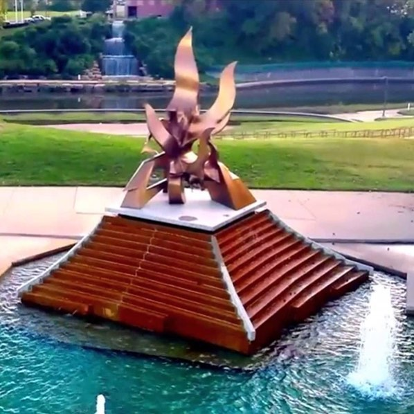 Tomorrow is #FountainDay2018! Join #KCParks and the #CityOfFountains Foundation at 11am at the newly renovated Spirit of Freedom Fountain to celebrate the start of fountain season! Reception following at Bruce R. Watkins Cultural Heritage Center.
