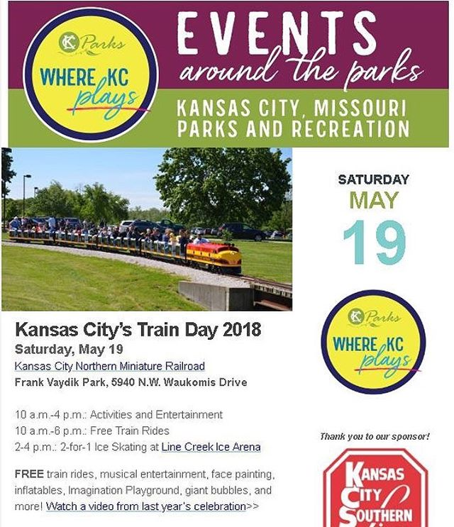 Join us next Saturday for #KCTrainDay! #KCParks #WhereKCPlays 🚂