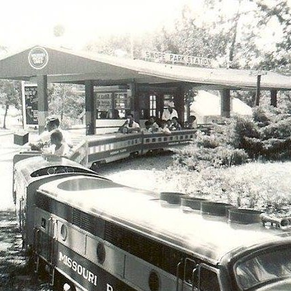 #ThrowbackThursday The @kansascityzoo Train c1969 This train now operates at #KCNRR in Frank Vaydik Park. Ride it for FREE this Saturday at #KCTrainDay #TBT #KCParks #WhereKCPlays