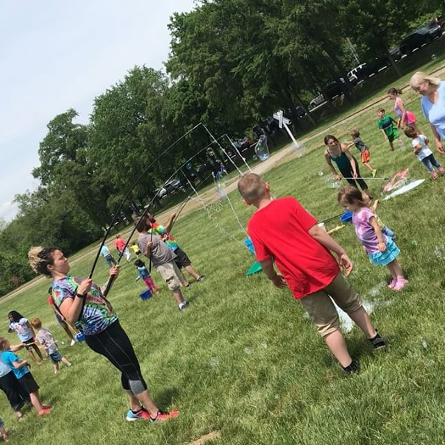 ‪#BigBubbles #KCTrainDay #KCParks #WhereKCPlays‬