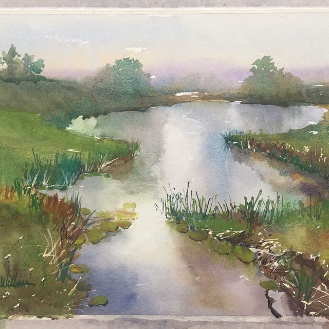 The winning painting from last night's #PleinAirKC Quick Paint in Penn Valley Park. Congratulations Marcia Willman! Catch the final Quick Paint Thursday night in Union Cemetery Historical Society. #KCParks #WhereKCPlays