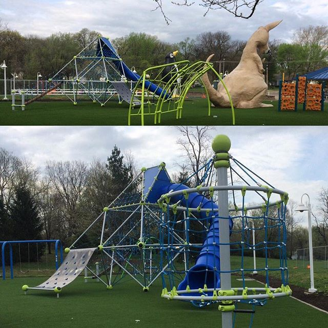 Construction is complete in Penguin Park and the new and improved playground is open for play just in time for summer! #MemorialDayWeekend #ThreeDayWeekend #KCParks #WhereKCPlays