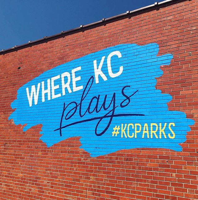 Our #WhatsThatWednesday is the new #KCParks #WhereKCPlays mural by @designedbyruthie on our Central District office building in the Historic West Bottoms (1520 W. 9th St.) Check it out this weekend when you are at @blvdia It's right next to EJ's Urban Eatery. #TakeASelfie #WTW #CityOfMurals