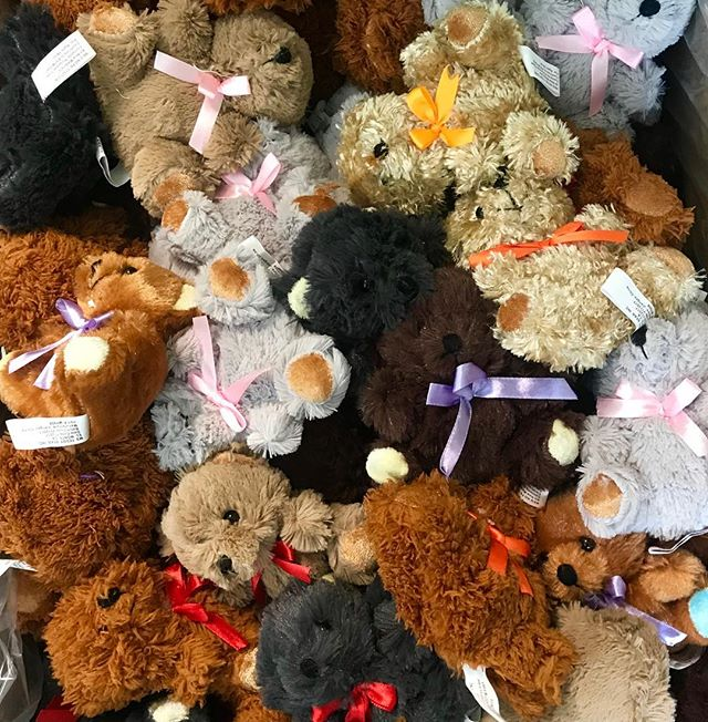 This is what a box of bears looks like! The first 200 kiddos at #TheTeddyBearPicnicKC on July 13 in Roanoke Park get a goodie bag that includes a little stuffed bear. #NationalTeddyBearPicnicDay #TeddyBearPicnic #KCParks #WhereKCPlays